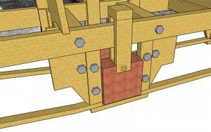 Sketchup-Rendering Axle Bearing