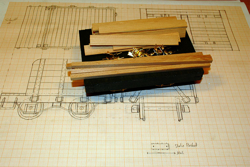 Parts for the side walls.
