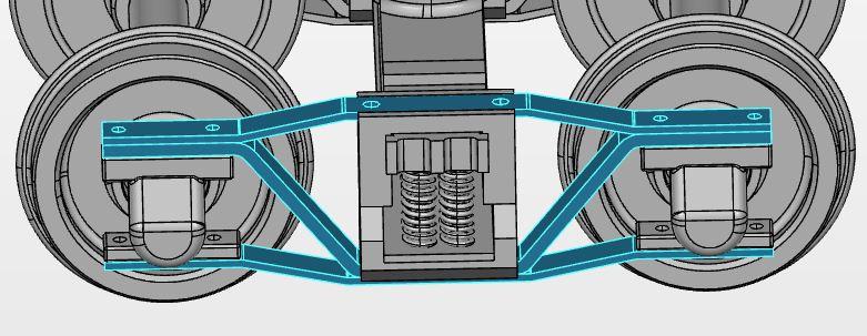 3D-Modell eines Archbar Drehgestells. Quelle: GrabCAD.