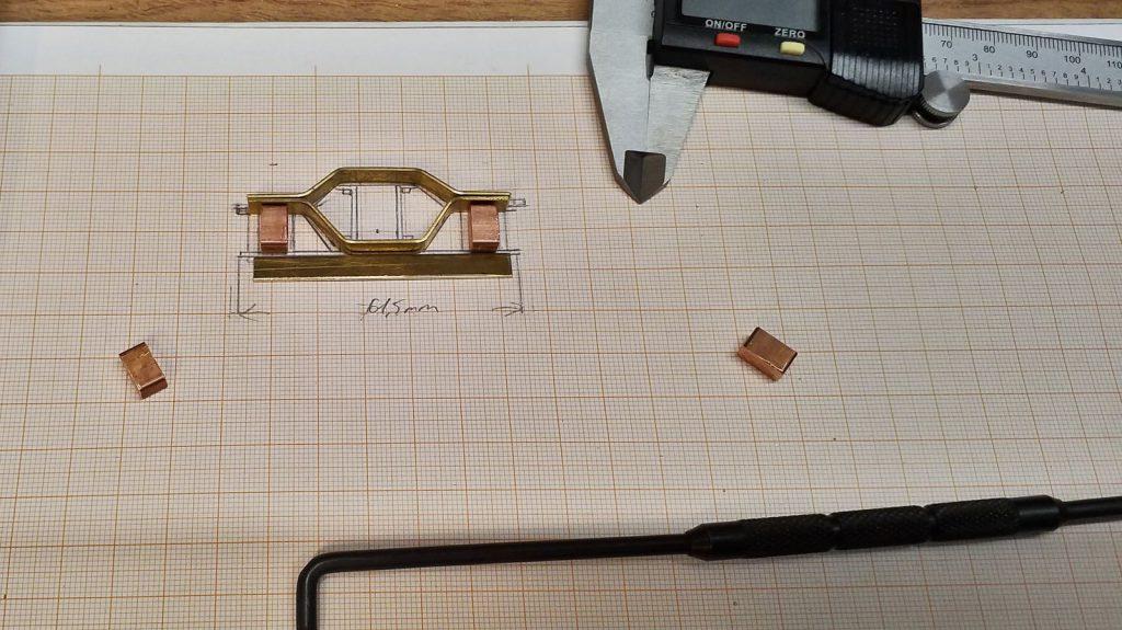 Erste Teile für ein Archbar-Drehgestell.