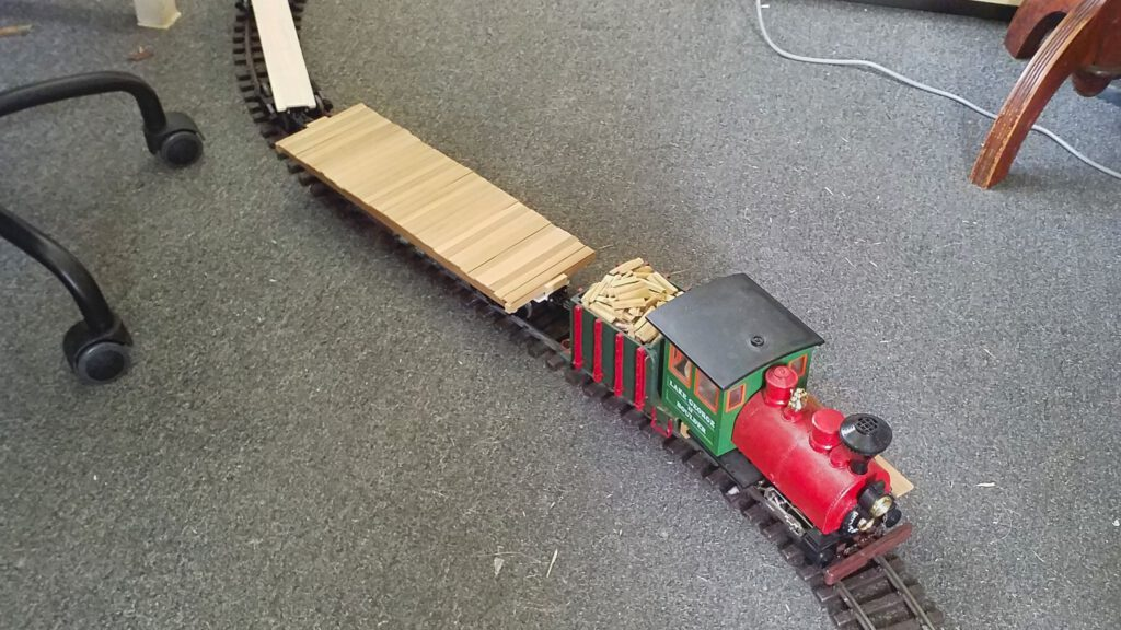 The assembly is test run on a test waggon.