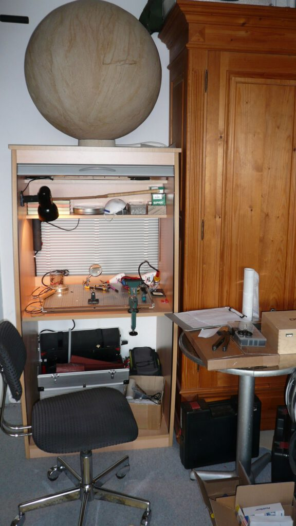 Werkstatt im Wohnheim in Betrieb.