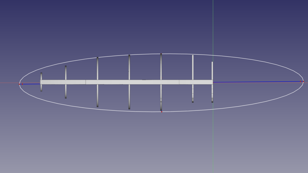 A new belly stringer is in the making, this time using the ellipse tool.