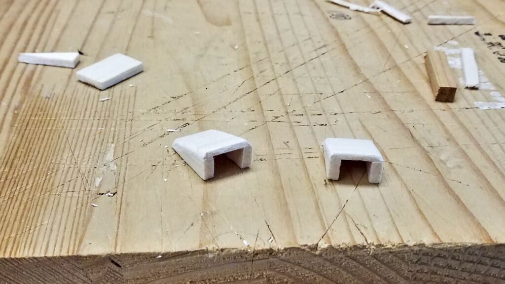 Two air intakes are made from balsa wood.