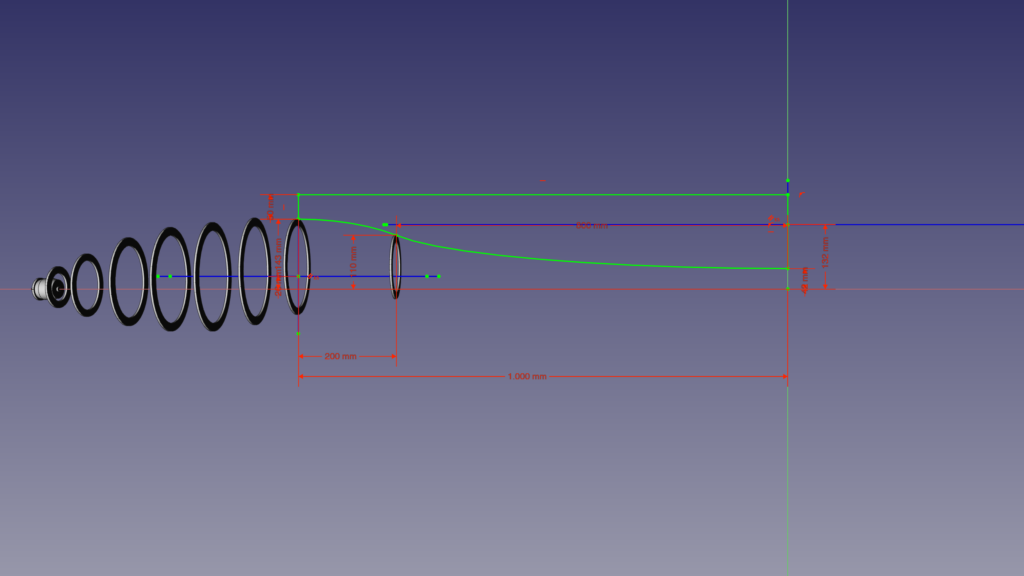 A gauge for the fuselage's shape is in the making.
