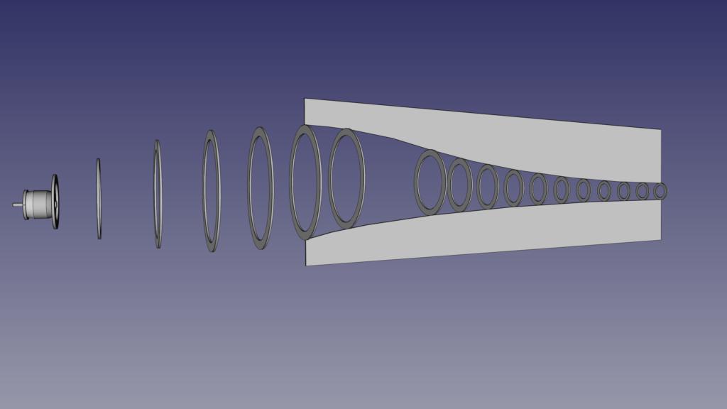 Preliminary fuselage based on the gauges.